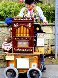 Organ and organ grinder Royalty Free Stock Images