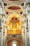 Organ at Passau Cathedral Royalty Free Stock Photos