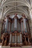 Organ pipe. Giant organ pipe in St Eustache church, Paris, France Stock Photography