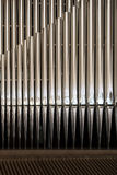 Organ pipe detail. Close up of the pipes of a great organ stock photography