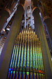 Organ pipe at Sagrada Familia in Barcelona Royalty Free Stock Photography