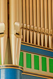 Organ pipes Royalty Free Stock Images