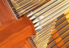 Organ pipes Stock Photography