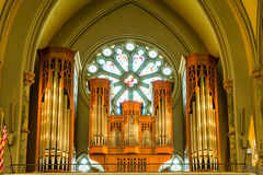 Organ Pipes in Balcony Royalty Free Stock Image