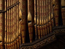 Organ pipes in cathedral Royalty Free Stock Photos