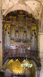 Organ with pipes Royalty Free Stock Photos