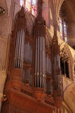 Organ pipes in cathedral Royalty Free Stock Images
