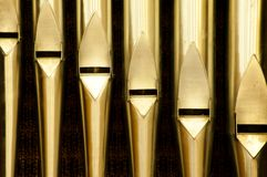 Organ pipes in Christian Monastery royalty free stock photos