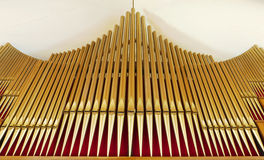Organ pipes church hall Stock Image