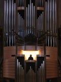 Organ pipes from a church organ in Santa Maria de Montserrat Abbey. Organ pipes from a church organ in Santa Maria de Montserrat Abbey stock photos