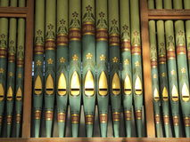 Organ pipes in church Royalty Free Stock Photos
