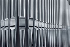 Organ pipes close Royalty Free Stock Image