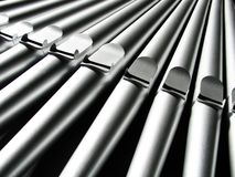 Organ pipes - close-up Royalty Free Stock Photography