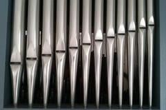 Organ pipes closeuup royalty free stock images