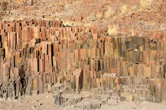 The Organ Pipes, Damaraland, Namibia. Stock Photography