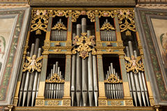 Organ pipes Stock Images