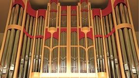 Organ pipes Royalty Free Stock Photo