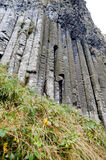 Organ pipes of Hexagonal rocks Giants Causeway Stock Photography