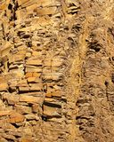 Organ pipes rock formations in Twyfelfontein Valley, Namibia stock photo