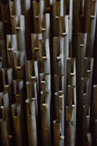 Organ pipes. Vintage organ pipes from the 1800s Royalty Free Stock Images
