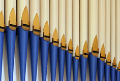 Organ pipes2 Royalty Free Stock Images