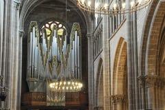 Organ przy Cathédrale Pierre, Genewa Obraz Royalty Free