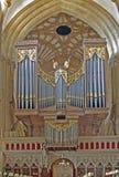 Organ quillt Kathedrale hervor Stockbilder