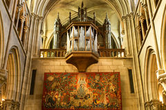 Organ ranks, Notre Dame, Dijon, France Royalty Free Stock Photography