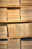 Organ Roll Music Paper Stock Image