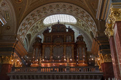 Organ of Saint Stephen Basilica in Budapest, Hungary. Royalty Free Stock Photo