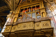 Organ in the Siena Cathedral Stock Image