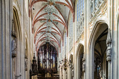 Organ of the Sint Jans Kathedral in Den Bosch Stock Image