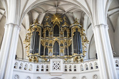 Organ of the St Mary church Marienkirche in Berlin, Germany Royalty Free Stock Image
