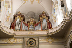 Organ St. Peter in Munich Royalty Free Stock Images