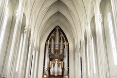 Organ St Peter und Pauls Kirche, Korken, England stockfotografie