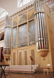 Organ of St. Petersburg Philharmonic Shostakovich Royalty Free Stock Images