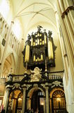 The organ of St. Salvator's Cathedral, Bruges Royalty Free Stock Photography