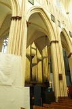 The organ of St. Salvator's Cathedral, Bruges Royalty Free Stock Image