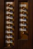 Organ stops, Verona, Italy. Organ stops in the basilica of San Zeno, Verona, Italy Royalty Free Stock Images