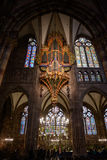 Organ in Strasbourg Cathedral , France Royalty Free Stock Images