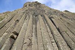 Organ Structure on Giants Causeway Coastal Footpath; County Antrim. Northern Ireland, UK stock photography