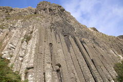 Organ Structure on Giants Causeway Coastal Footpath; County Antrim. Northern Ireland, UK royalty free stock photo