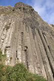 Organ Structure on Giants Causeway Coastal Footpath; County Antrim. Northern Ireland, UK royalty free stock photo
