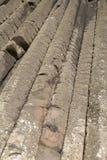 Organ Structure on Giants Causeway Coastal Footpath; County Antrim. Northern Ireland, UK royalty free stock photography