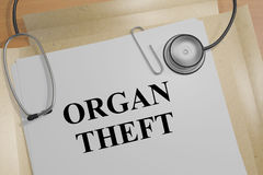 Organ Theft - medical concept Royalty Free Stock Images