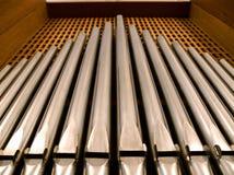 Organ tubes Royalty Free Stock Images