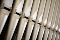 Organ tubes Royalty Free Stock Photography