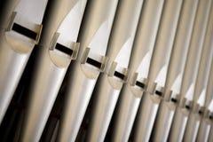 Organ tubes Royalty Free Stock Photography