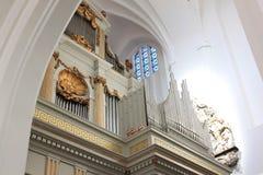 Organ von kyrka Sankt Petri, Malmö, Schweden Stockbild