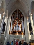 Organ w Hallgrimskirkja zdjęcie stock